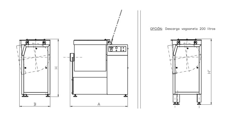 Kneader-mixer without vacuum, central T shovel [AM-300]
