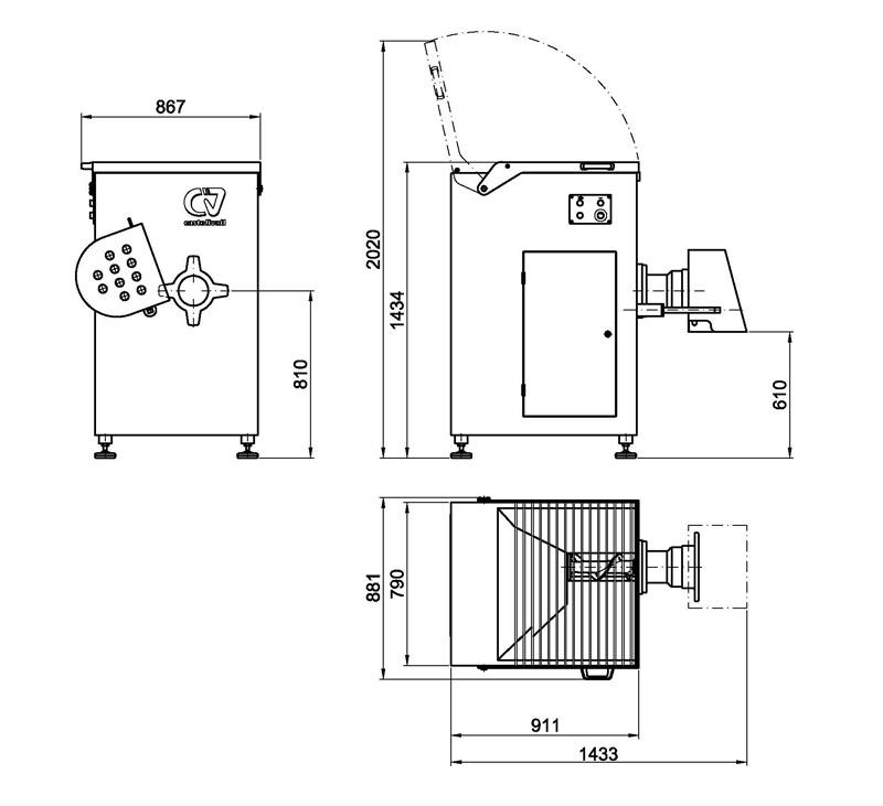 Hachoir semi-automatique [NCP-160]